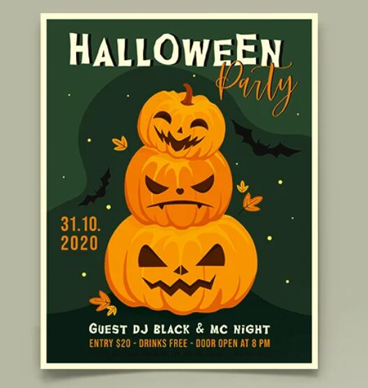 Free Halloween Flyer Template (PSD & Vector)