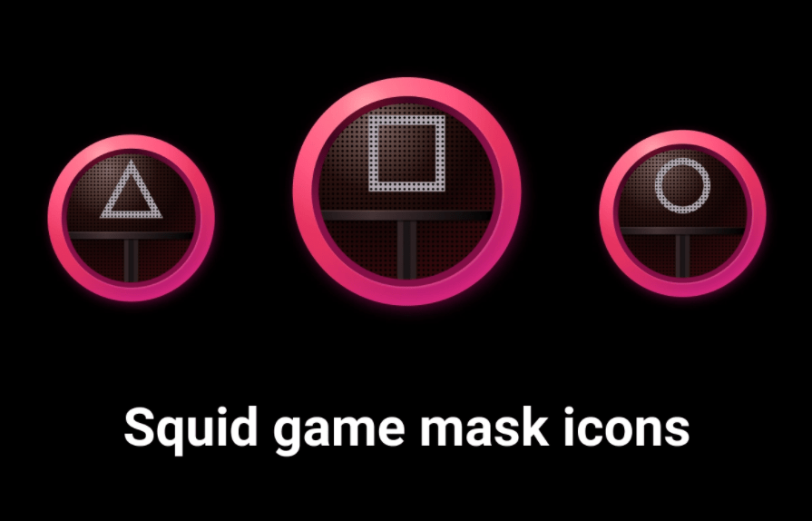 Free Squid Game Mask Icons