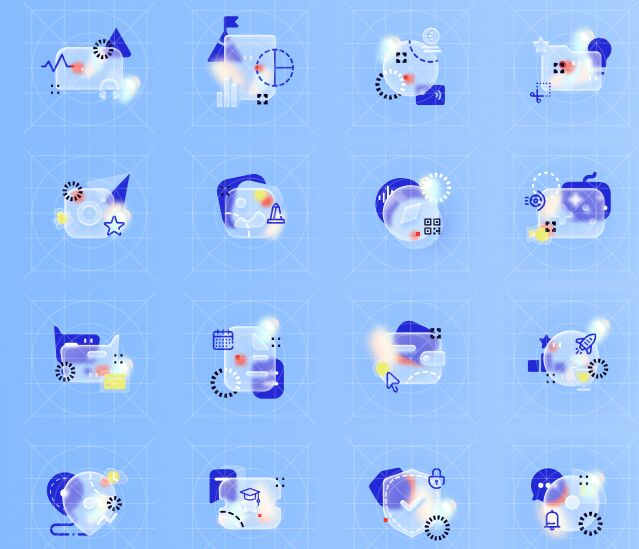 Light Glossy Icons