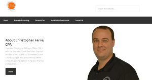 Chris Farris site from 366 marketing