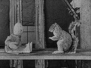"""Still from Charley Bowers' """"A Wild Roomer"""""""