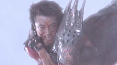 Still from Alien vs. Ninja