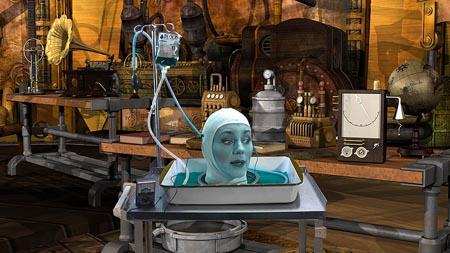 Creeporia: Elaine in basement lab