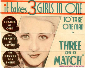 Poster for Three on a Match (1932)