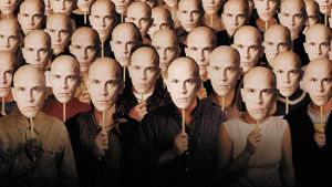Detail from Being John Malkovich poster