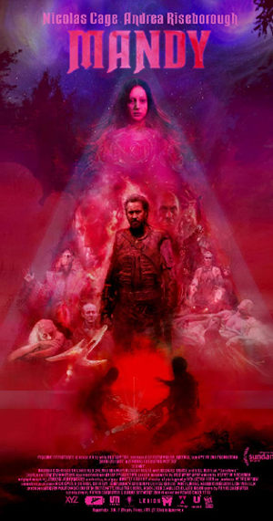Poster for Mandy (2018) - weirdest movie of 2018