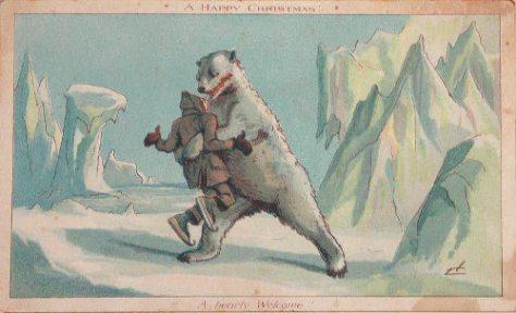 Weird Christmas postcard