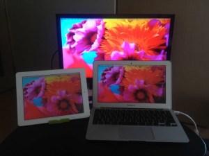 MacBookAirトリプルディスプレイ