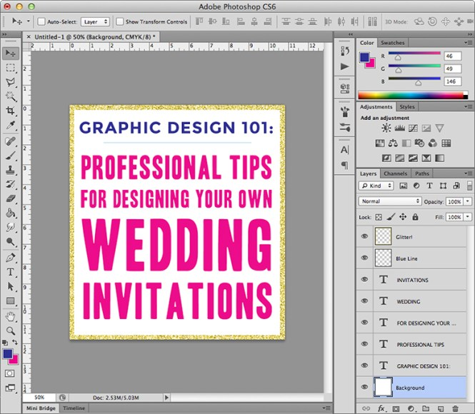 Hand Painted Fl Wedding Invitation Card Vector Graphics
