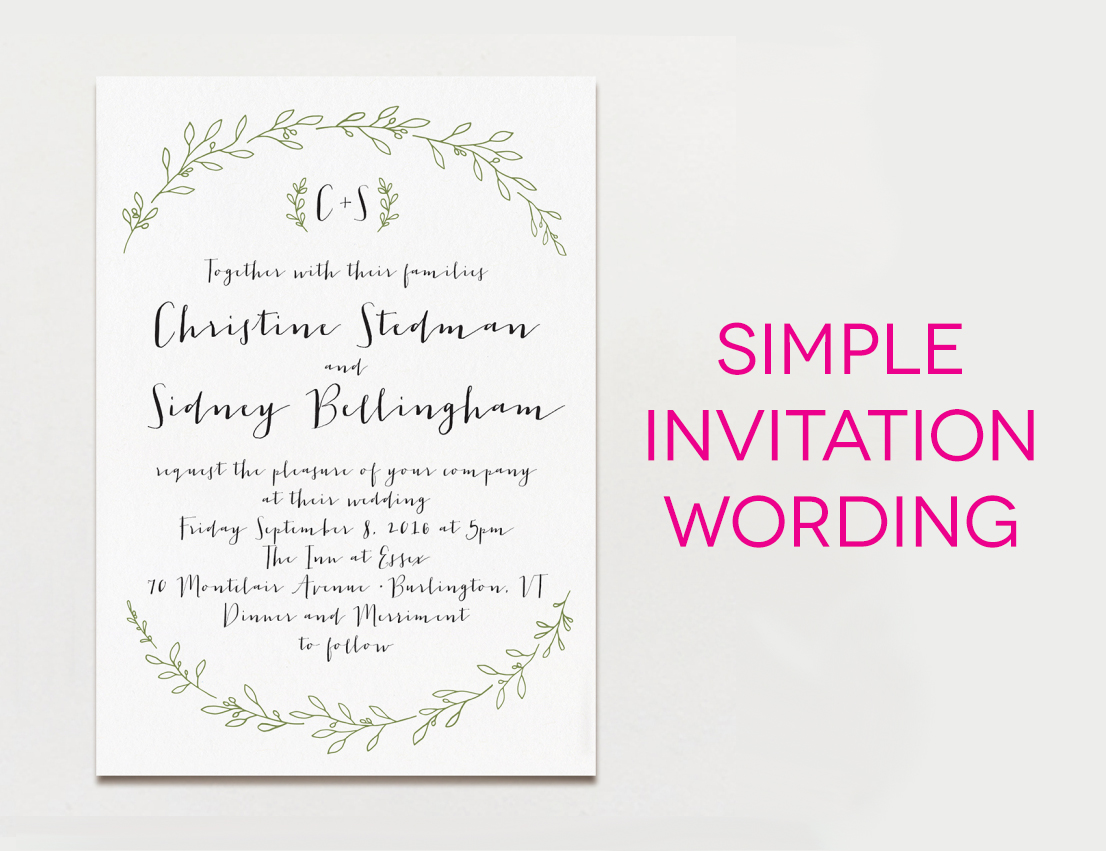 Personal Invitation Wordings Wedding