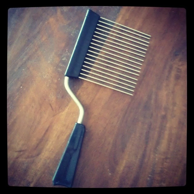 The original Cake Cutter. #afro #pick #naturalhair #1970s #artifacts #history #tbt #ourstory #doubledasaweapon #truestory