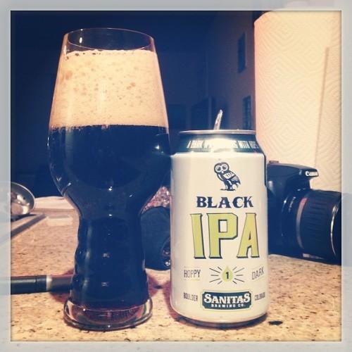 """Last night's drink of choice: Black IPA by @sanitasbrewing - like the can says, it's """"dripping in hops"""" #drinkandspoon #drink #beer #beerporn #beerstagram #craftbeer #craftbeercommunity #colorado"""