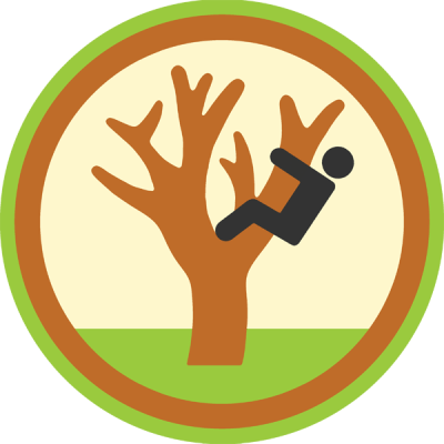 Lifescouts: Tree-Climbing Badge<br /> If you have this badge, reblog it and share your story! Look through the notes to read other people's stories.<br /> Click here to buy this badge physically (ships worldwide).<br /> Lifescouts is a badge-collecting community of people who share their real-world experiences.