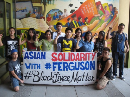 Members of the Asian American community at UC Davis are taking a stand in solidarity with the people of Ferguson and their continued struggle for survival in the face of police brutality. All black lives matter.