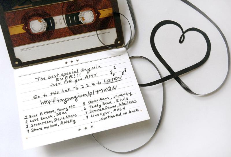 CRANKBUNNY The FANCY Make A Mixtape Greeting Card Think