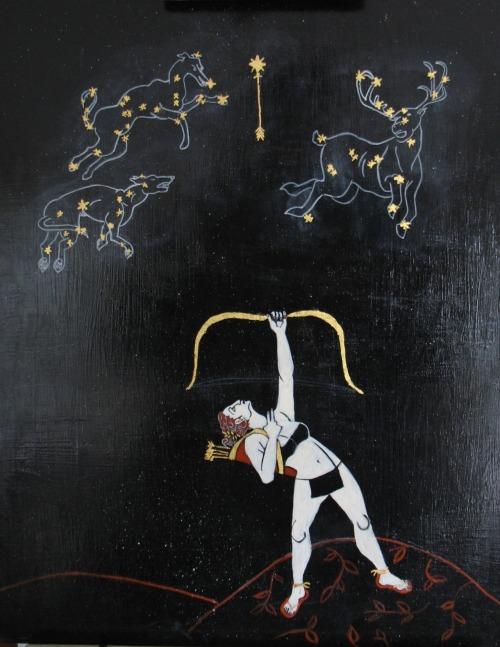 Artemis painting by Sara Star aka Spiritscraft.