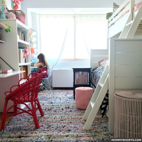 small shared bedroom for two growing girls