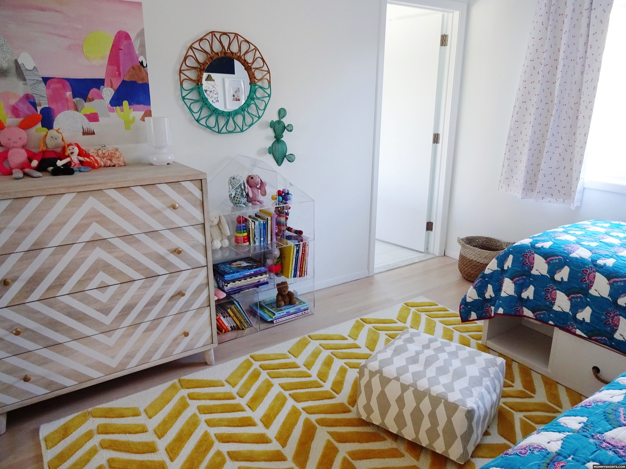 A Modern BOHO Bedroom for Mazzy and Harlow - Mommy Shorts on Boho Bedroom Modern  id=80033