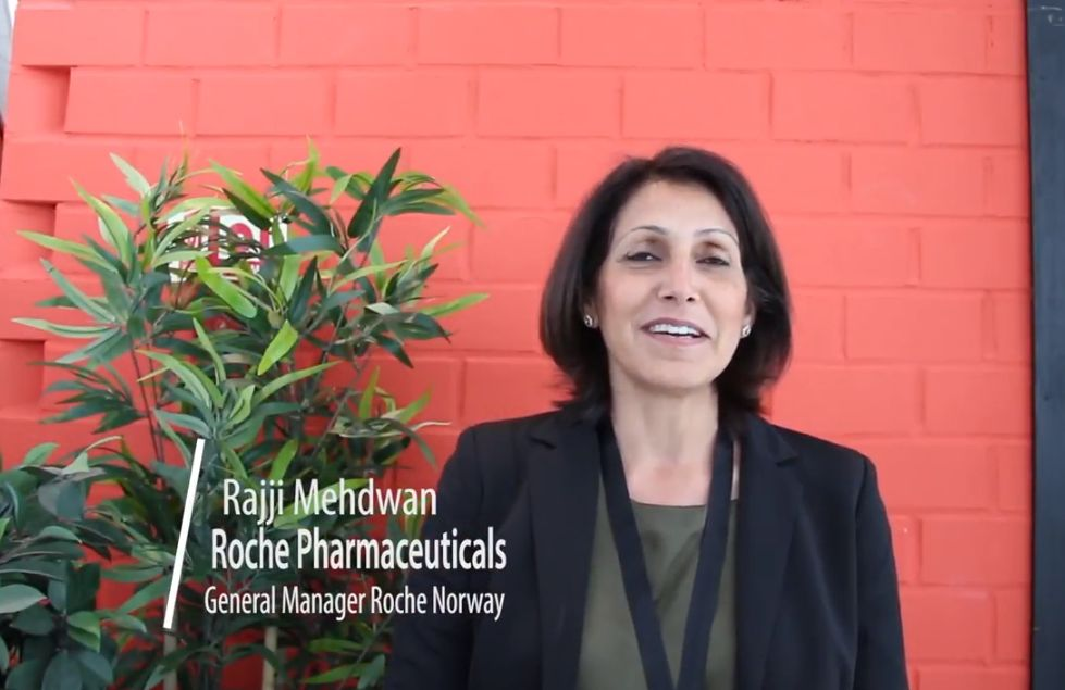 Ms. Rajji Mehdwan, General Manager of Roche Pharma in Norway