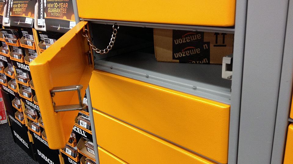 Amazon Locker Opened