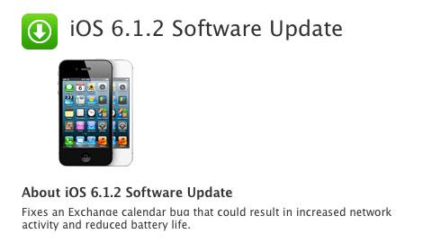iOS 6.1.2 Software Update