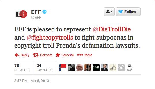 EFF-Tweet-supporting-anti-copyright-troll
