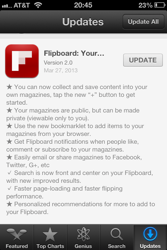 Flipboard 2.0 Update iOS