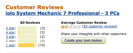 System Mechanic Review at Amazon