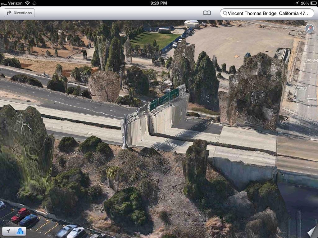 Apple 3D Map Vincent Thomas Bridge