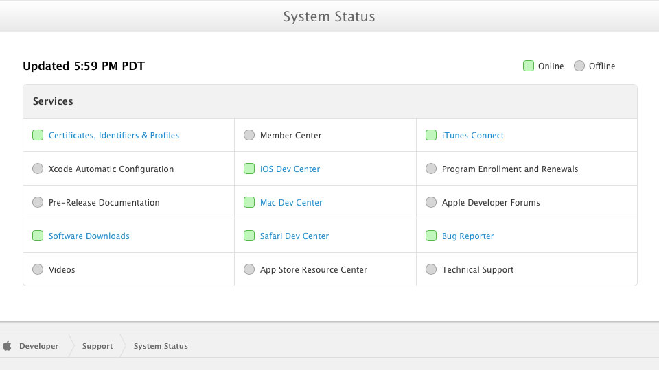 Apple-Developer-Center-System-Status-20130726