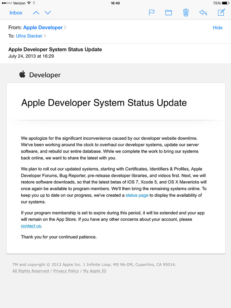 Apple-Developer-System-Status-Update-Email