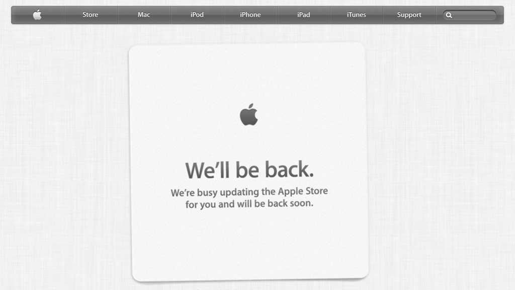 Apple Store Maintenance 20130720