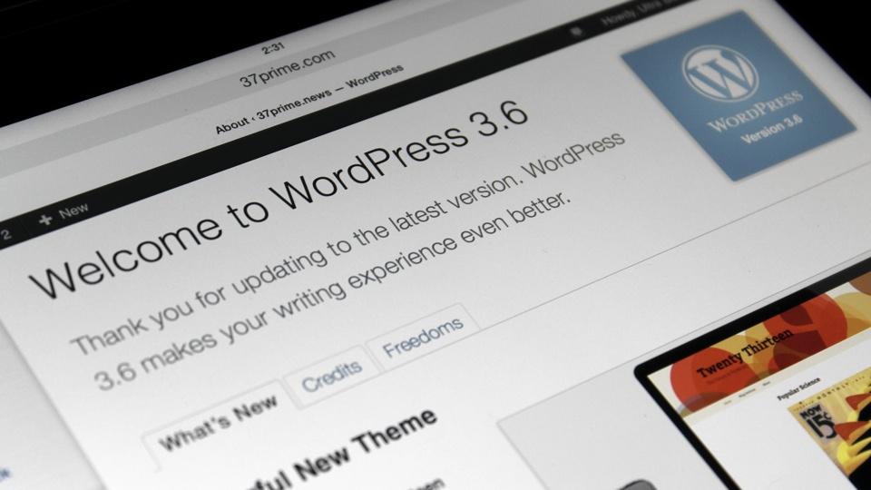 WordPress 3.6 Update