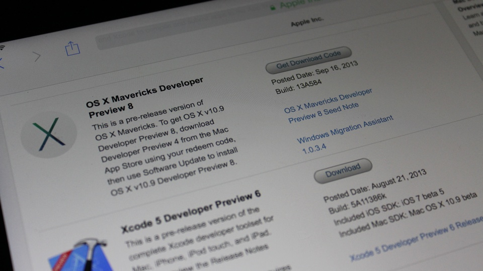 OS X Mavericks DP 8
