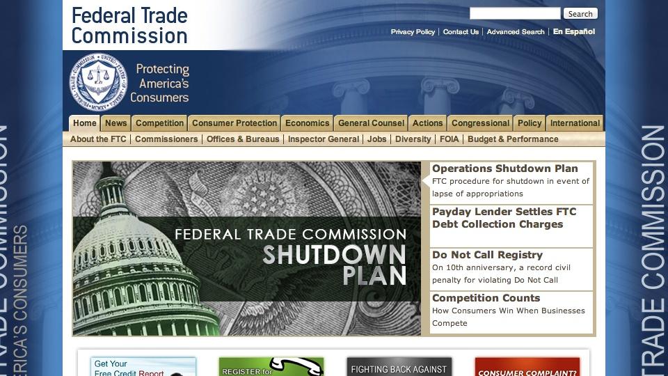 FTC on Government Shutdown