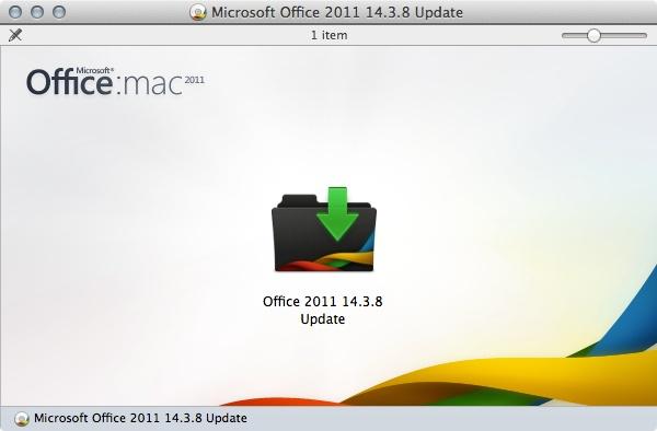 Office 2011 14.3.8 Update Installer
