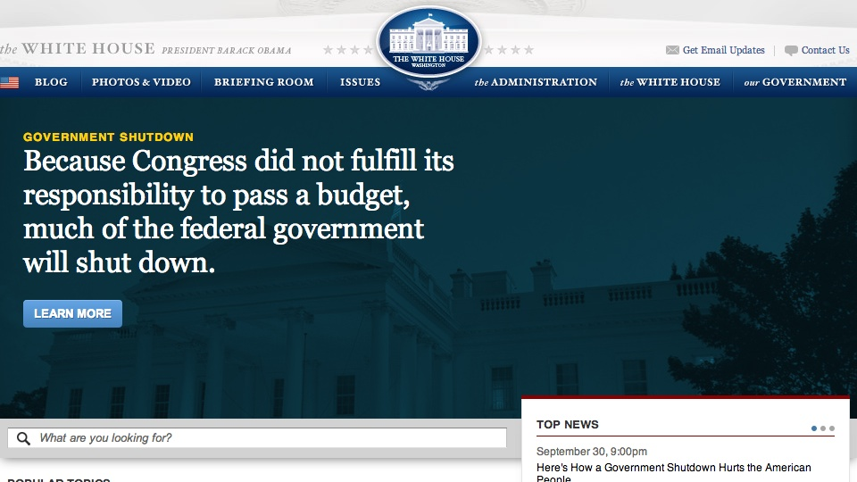 Whitehouse on Government Shutdown
