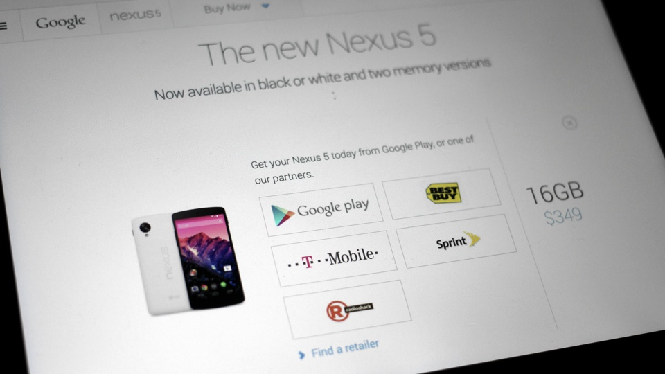 Google Nexus 5 T-Mobile Sprint