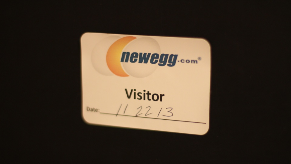 Newegg Visitor Badge
