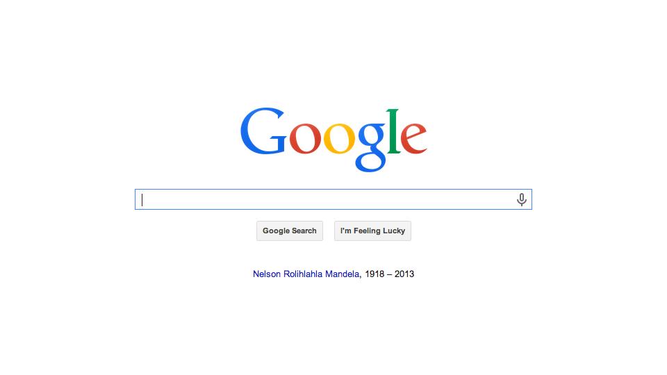 Google Pays Tribute to Nelson Mandela