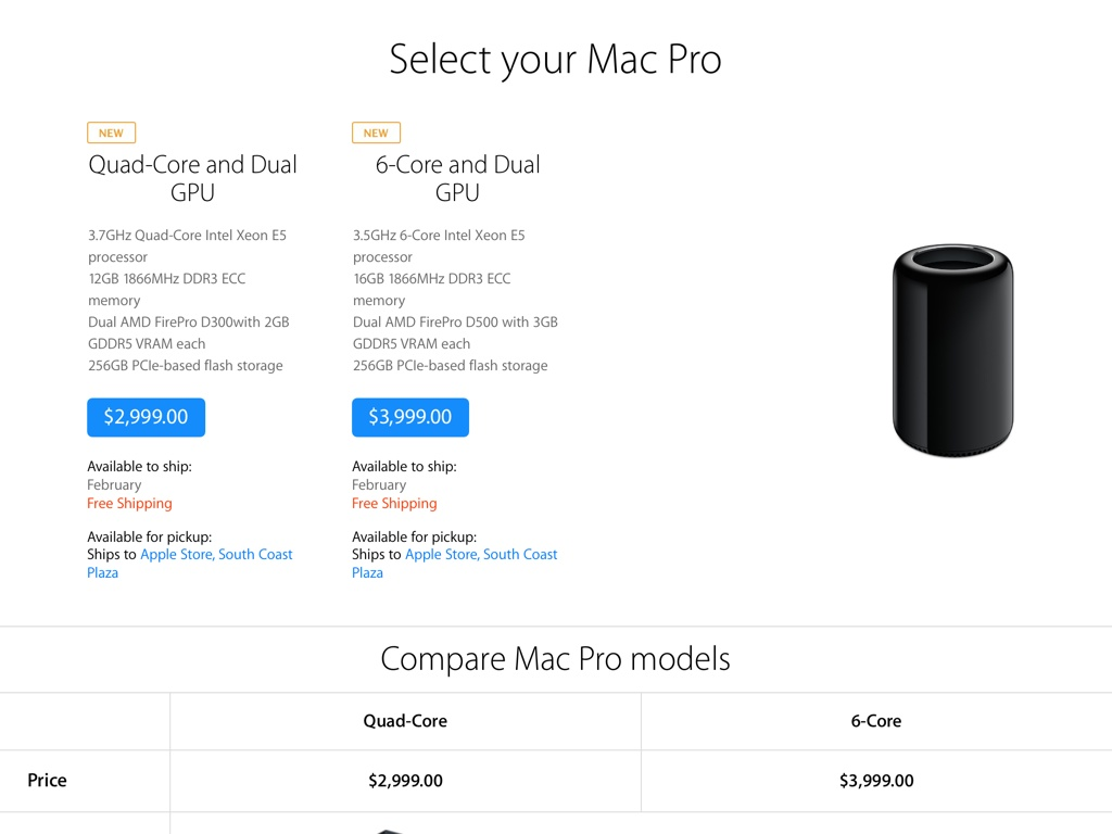 Mac Pro February 2014 shipping time