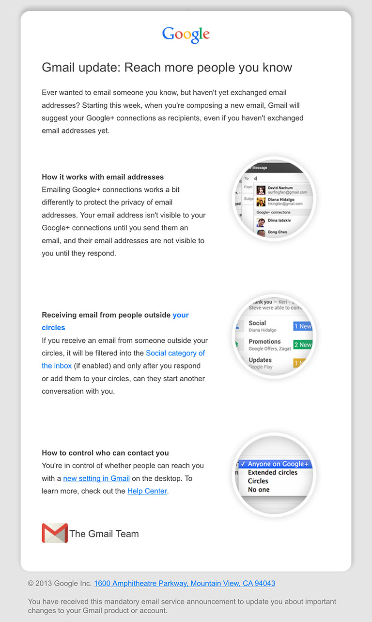 Gmail-GooglePlus-update