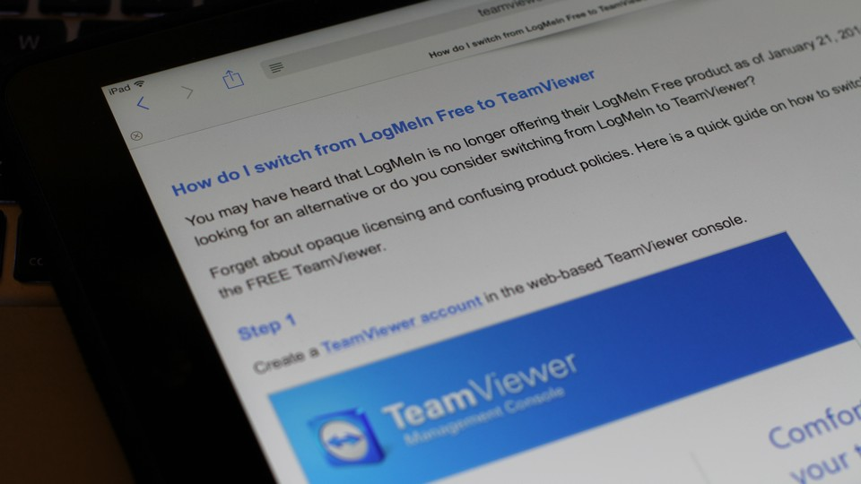 TeamViewer FAQ switching from LogMeIn Free