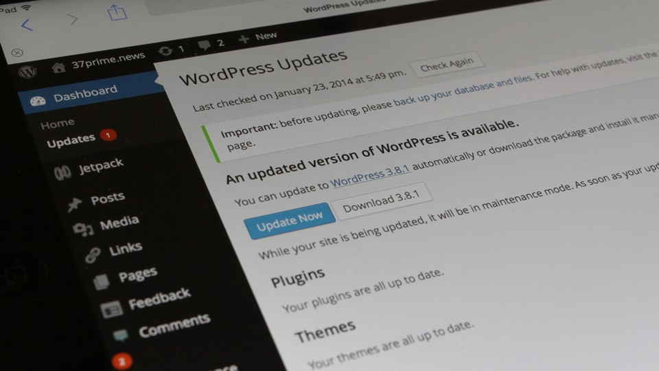 WordPress 3.8.1 Update