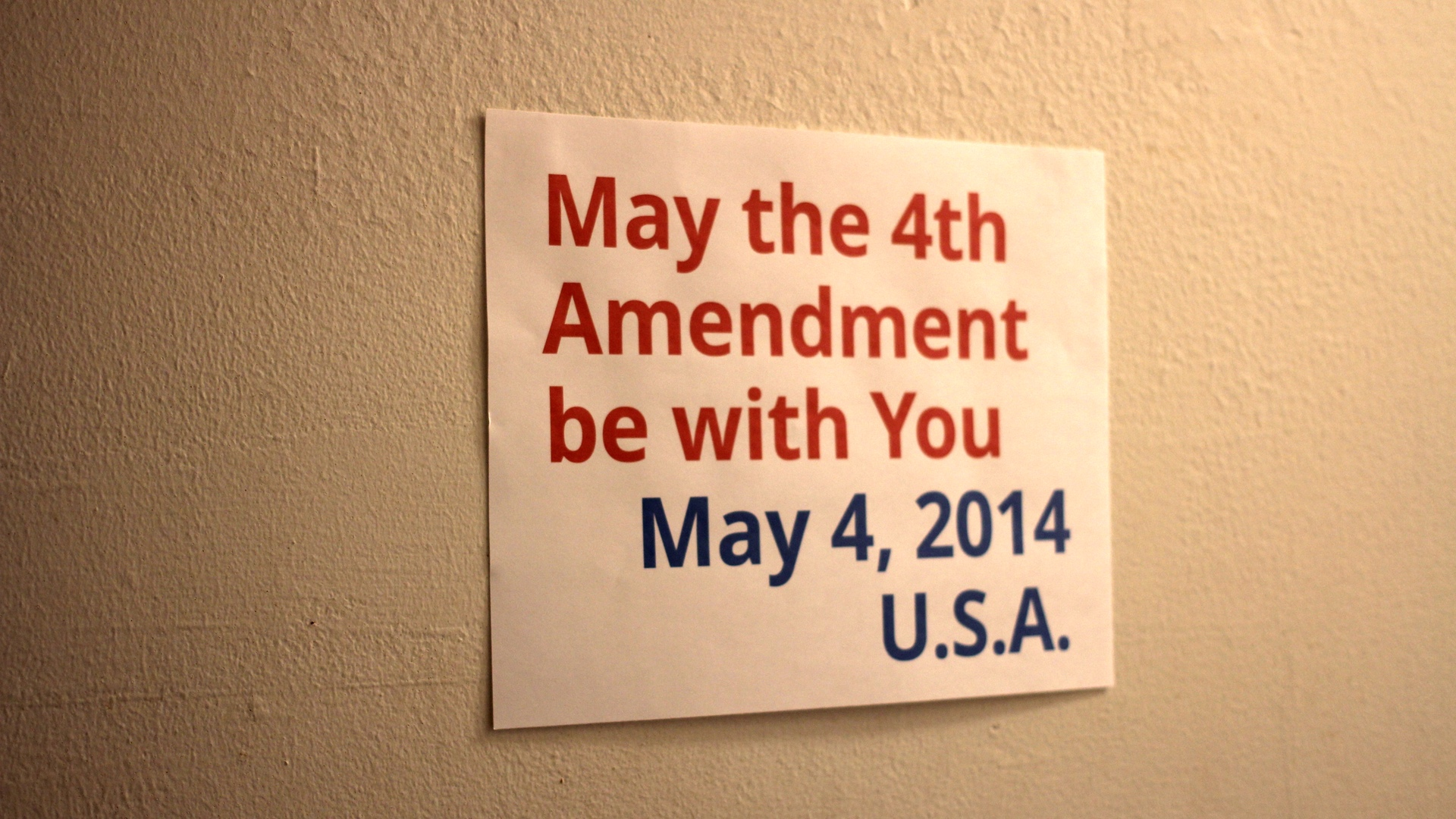 May the 4th Amendment be with You