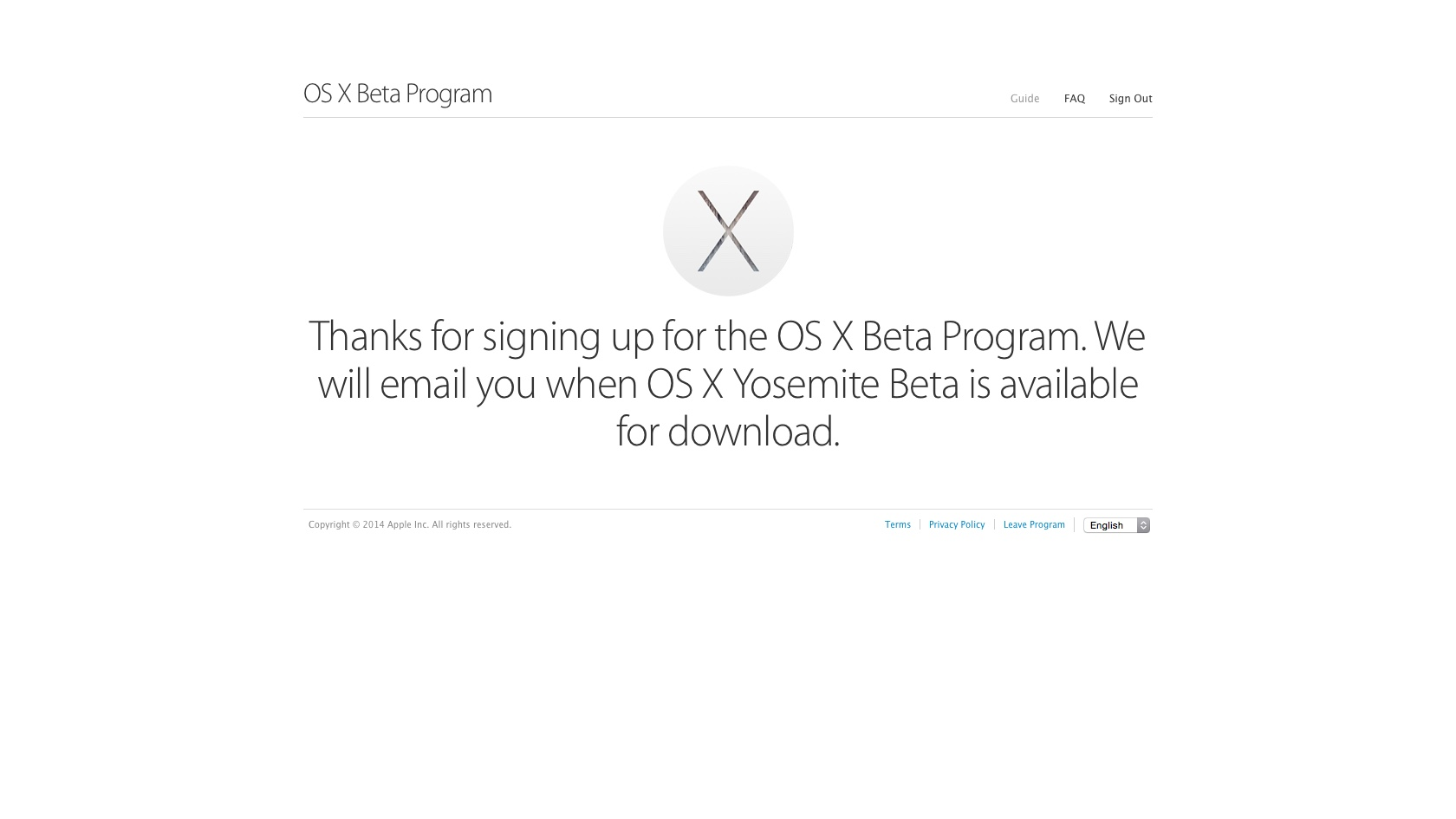 OS X Yosemite Beta Program The Wait