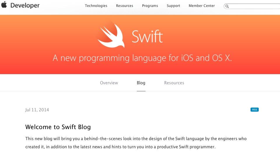 Swift Blog Apple Developer