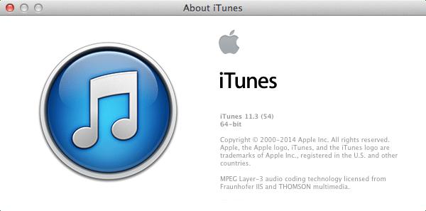 iTunes 11.3 build 54