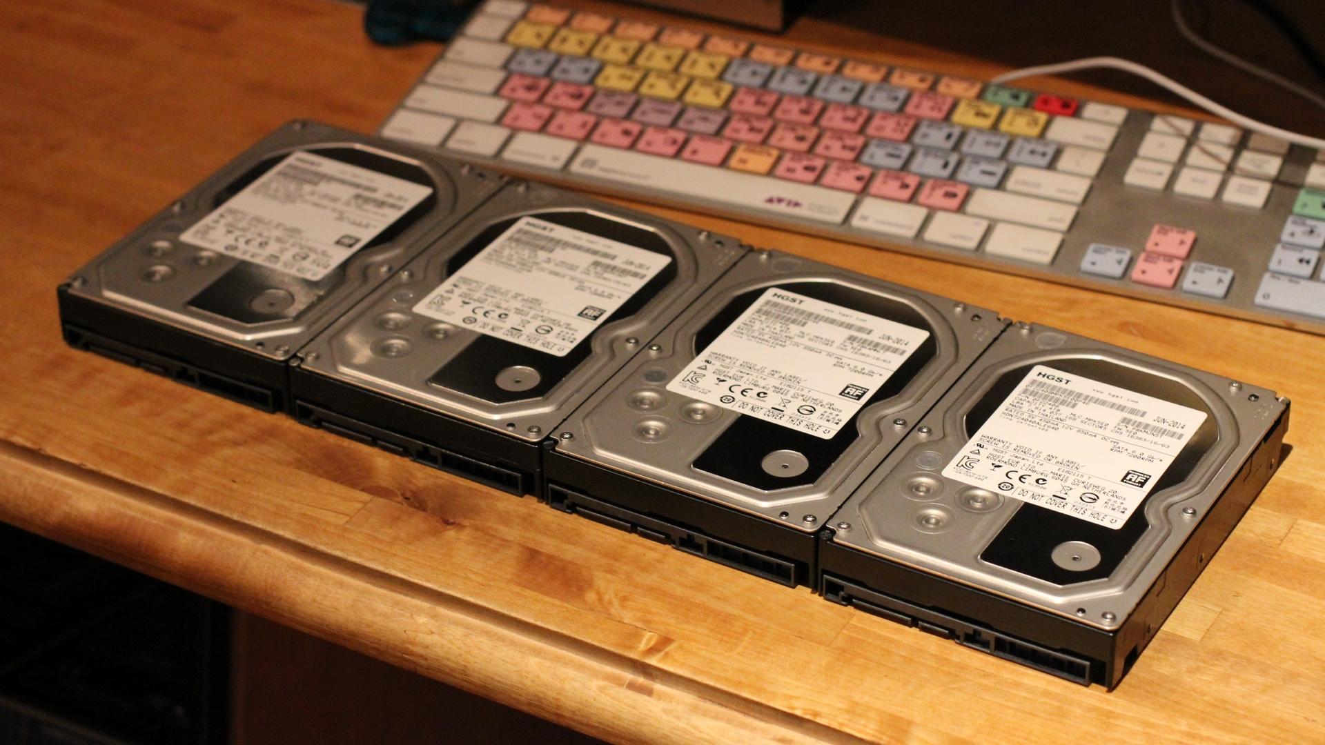 Four Hitachi 4TB Hard Drives