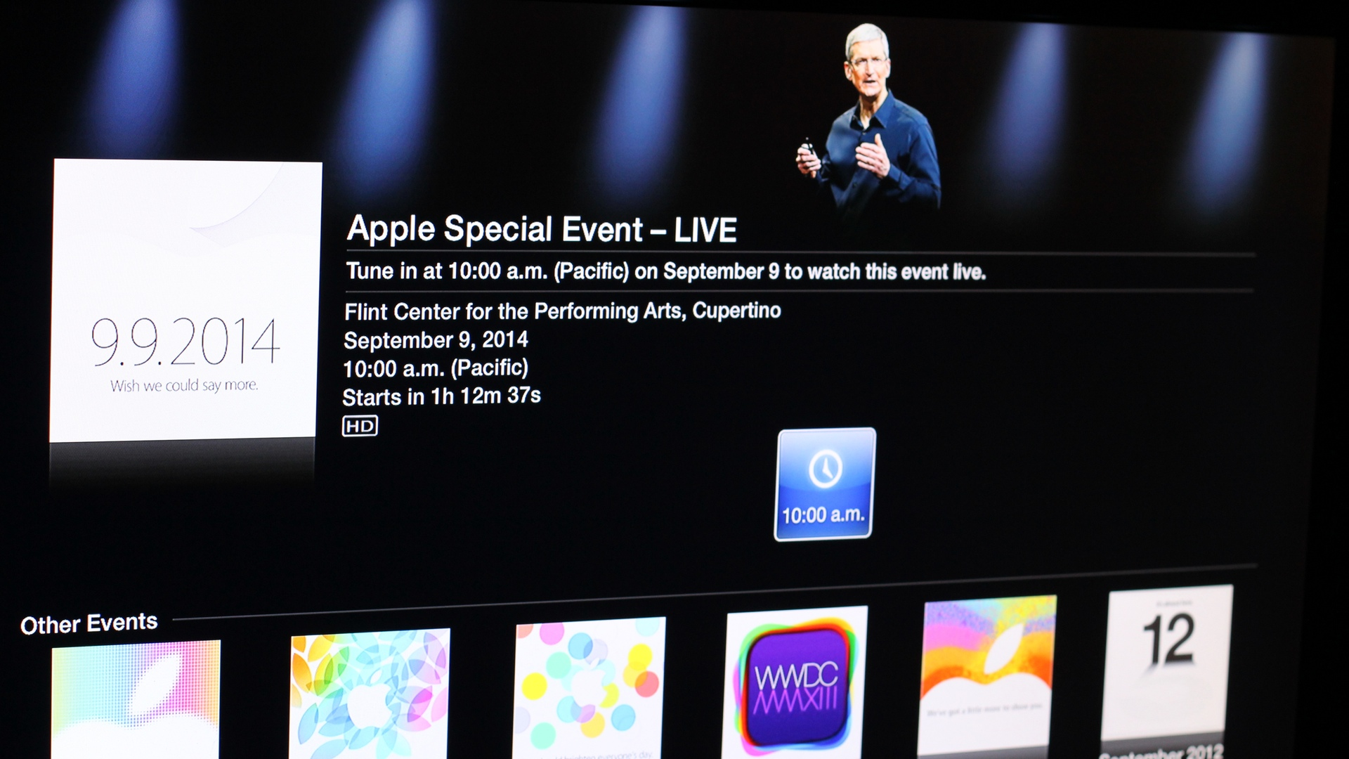 Apple Special Event 20140909 on Apple TV